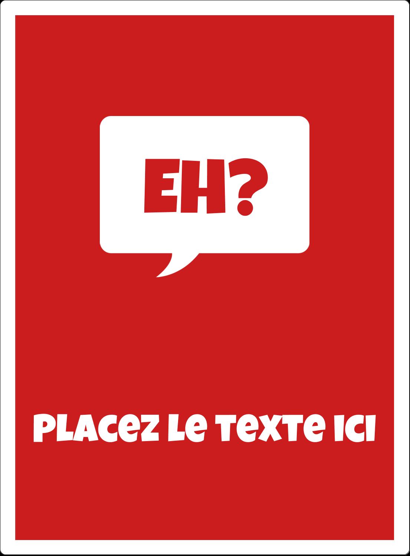 """2½"""" Diameter Étiquettes rondes - Parlez-vous canadien eh? (Rouge)"""