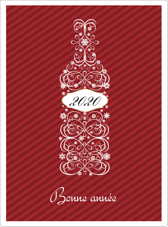 """2½"""" Diameter Étiquettes rondes - Bouteille de champagne en spirale"""
