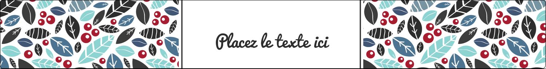 "1½"" x 2½"" Étiquettes ovales - Feuillu"