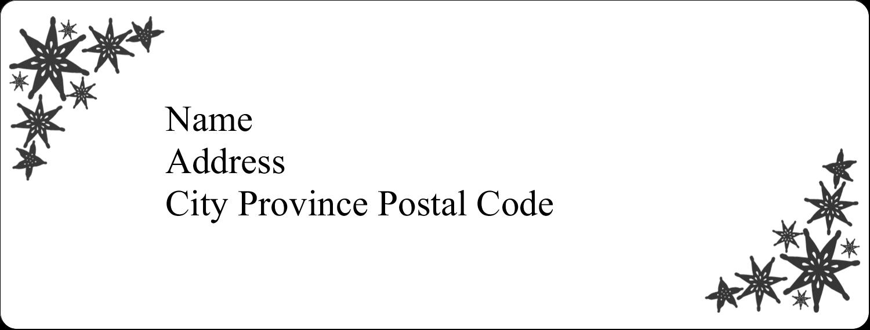 """1"""" x 2⅝"""" Address Label - Star Corner"""