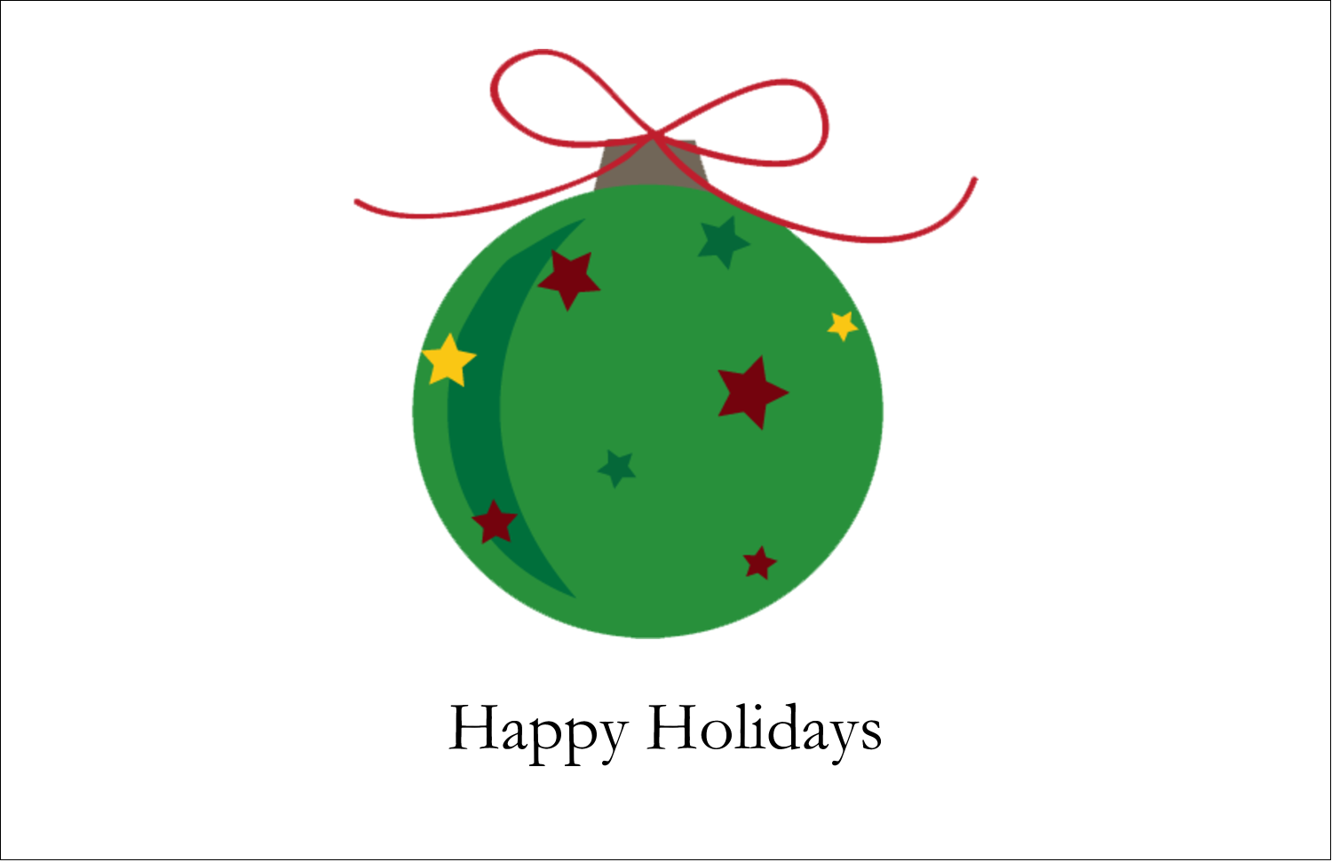 "5½"" x 8½"" Greeting Card - Star Ornament"