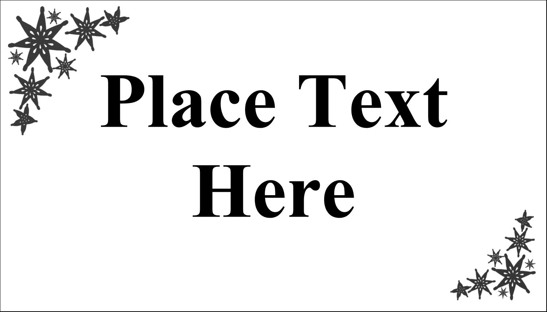 "2"" x 3½"" Business Card - Star Corner"
