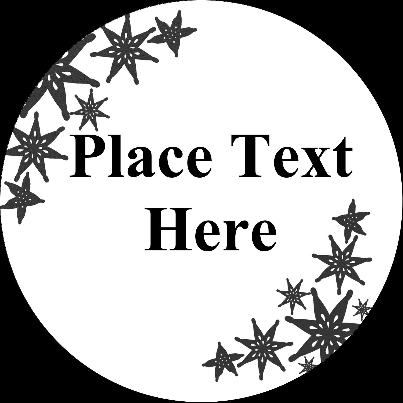 "2½"" Round Label - Star Corner"