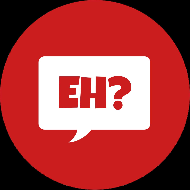 "2"" Round Label - Speak Canadian, Eh? - Red"