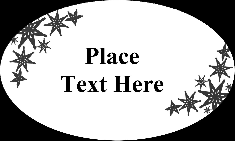"1½"" x 2½"" Oval Glossy Label - Star Corner"
