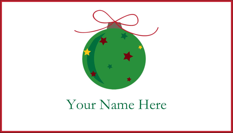 "2"" x 3½"" Business Card - Star Ornament"