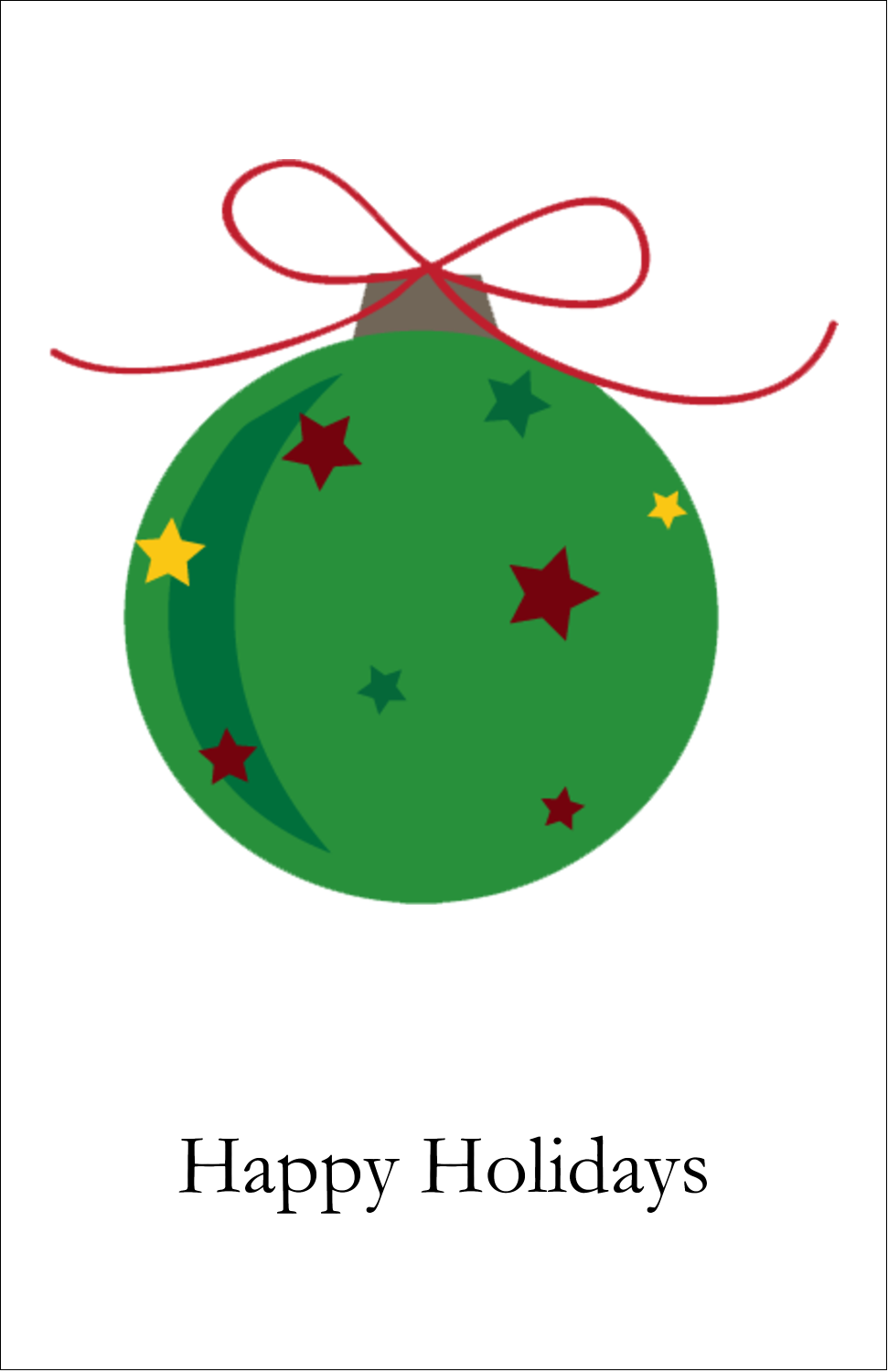 "5"" x 8½"" Half Fold Card - Star Ornament"