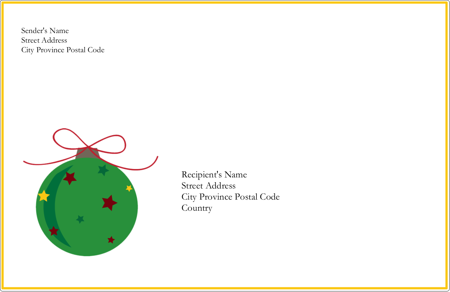 "5½"" x 8½"" Shipping Label - Star Ornament"