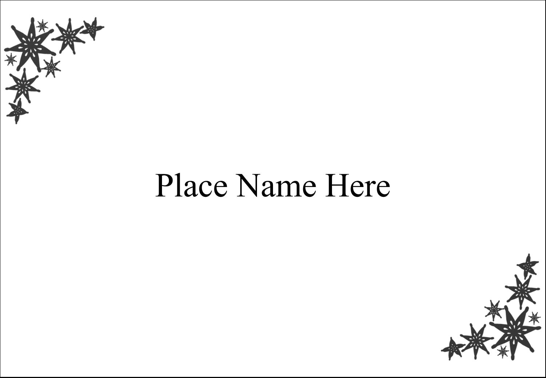 """3⅜"""" x 2⅓"""" Name Badge - Star Corner"""