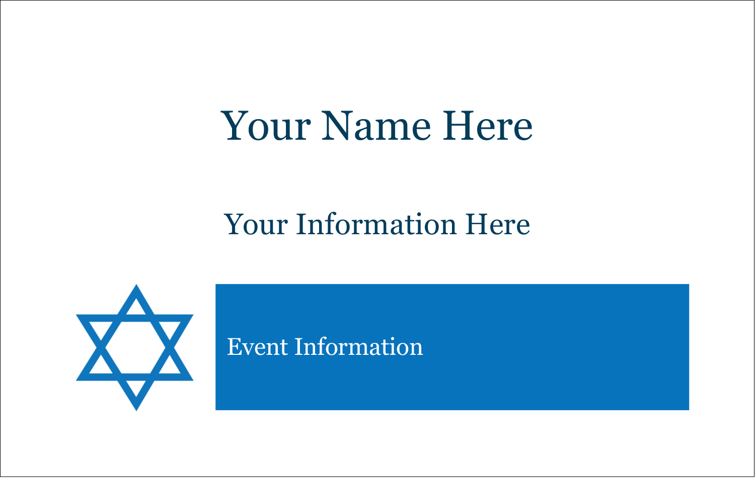 2¼ x 3½ Name Tags - Star of David