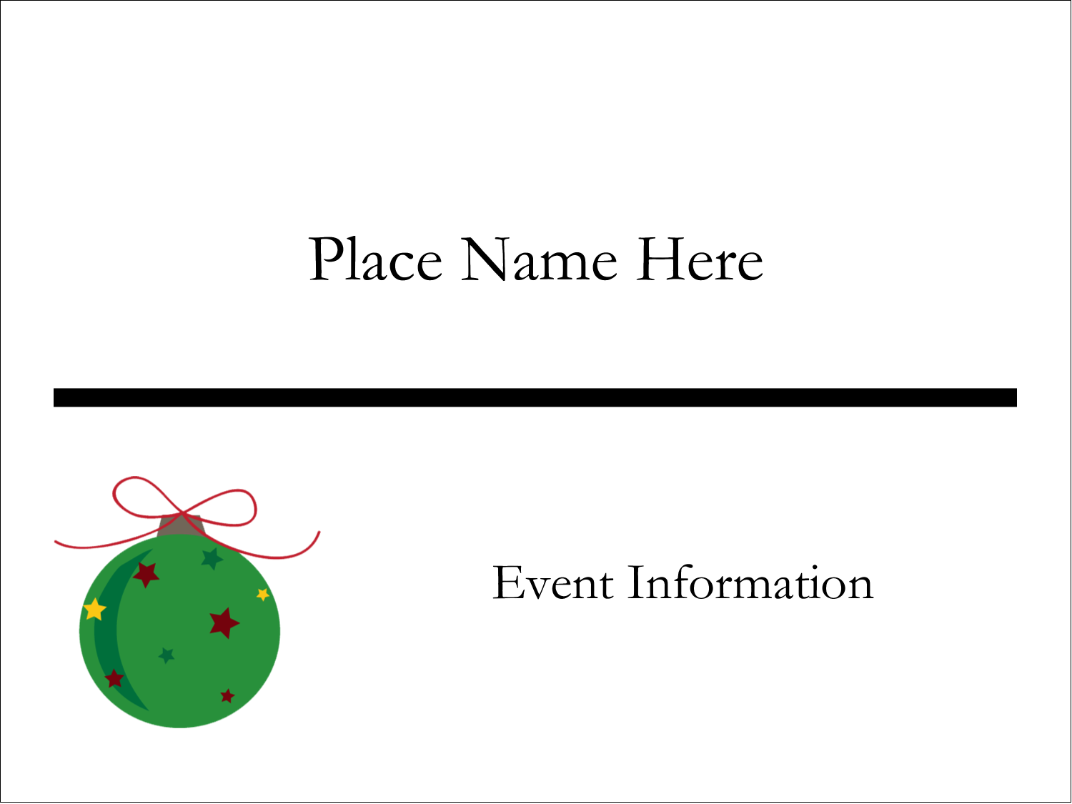 """3"""" x 4"""" Name Tags - Star Ornament"""