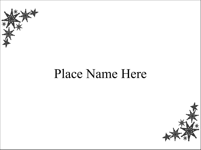 "3"" x 4"" Name Tags - Star Corner"