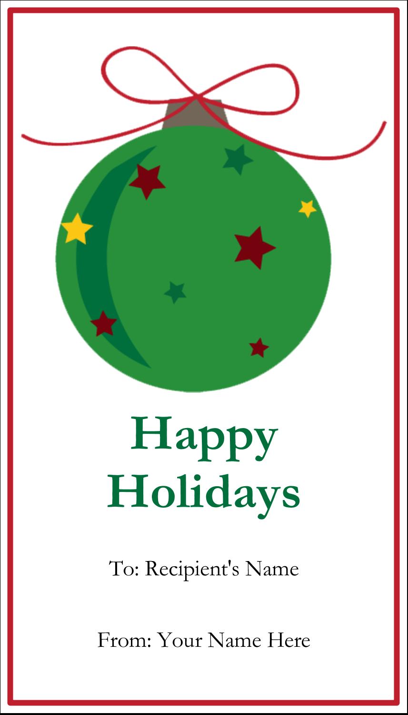 "3½"" x 2"" Business Card - Star Ornament"
