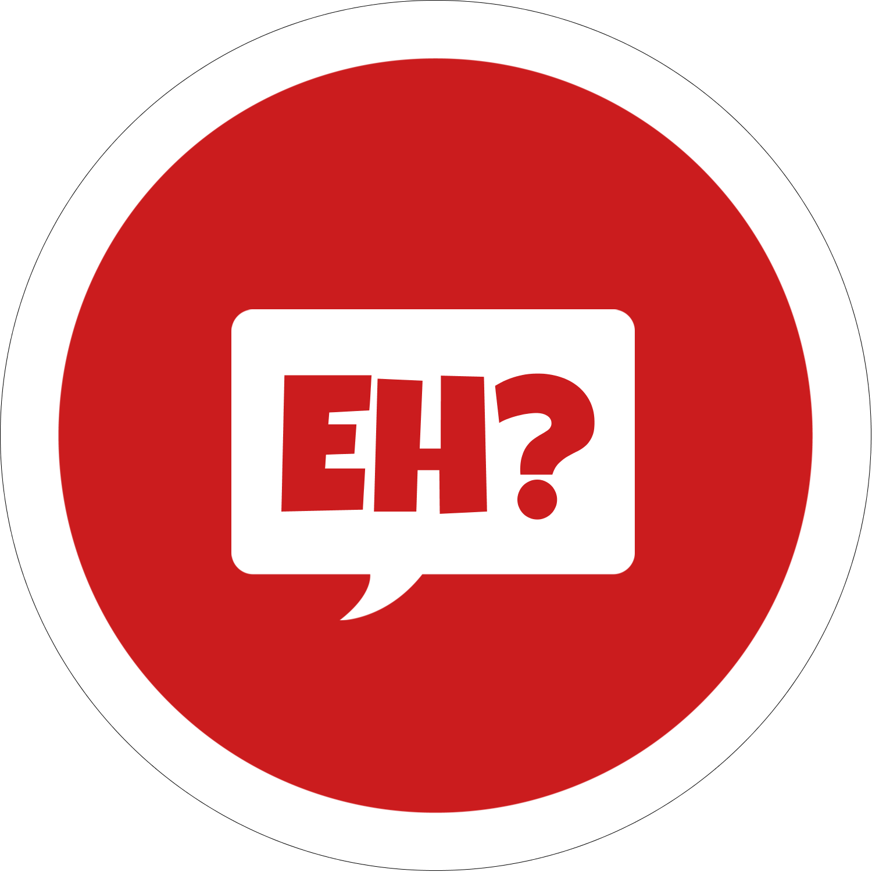 "2"" Embossed Round Label - Speak Canadian, Eh? - Red"