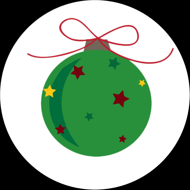 "2½"" Round Label - Star Ornament"