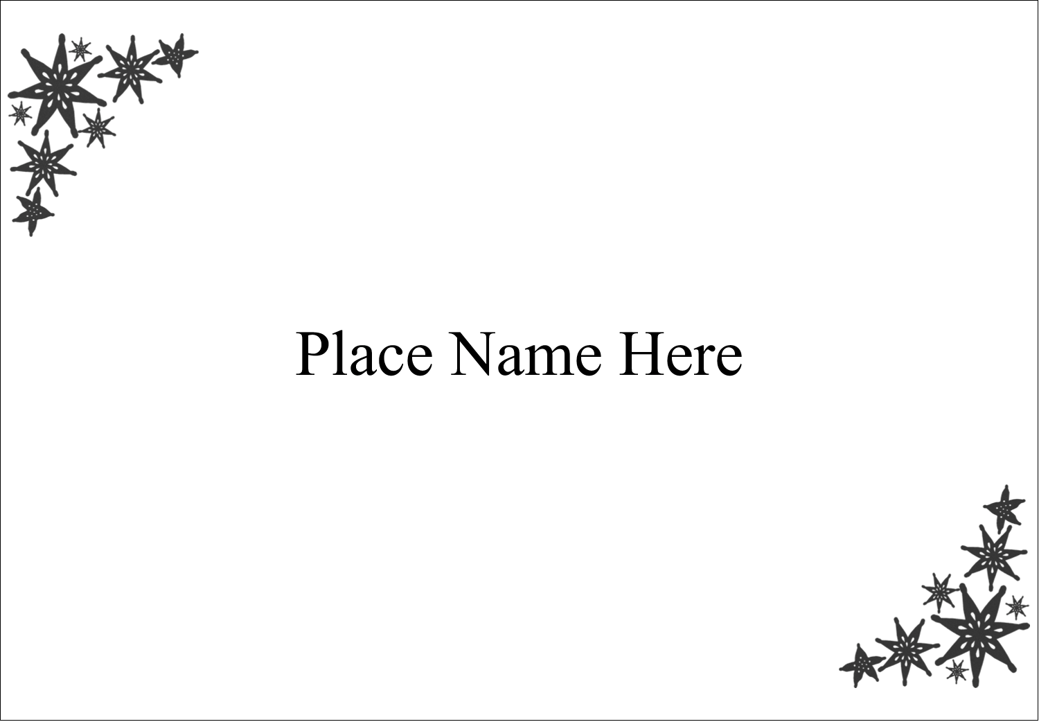"2-11/12"" x 3⅜"" Name Badge Label - Star Corner"