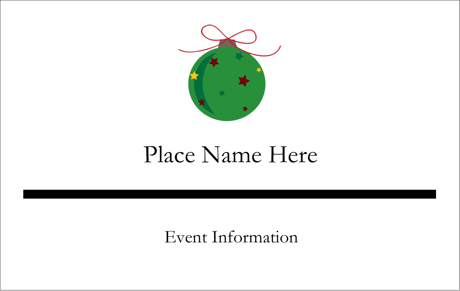 """2¼"""" x 3½"""" Name Tags - Star Ornament"""