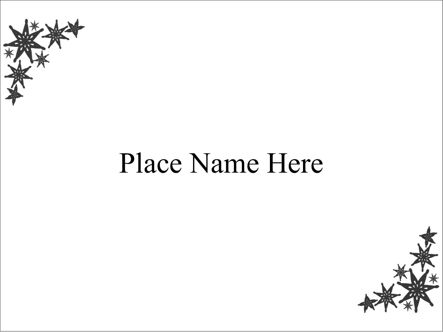 "4"" x 3"" Name Tags - Star Corner"