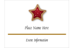 Sweeten your personal or professional project with pre-designed Star Cookie templates.