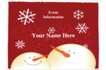 Add a sense of cozy joy to custom projects with pre-designed Snowman Red templates.