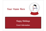 Surround projects with holiday cheer using pre-designed Snowman Globe templates.