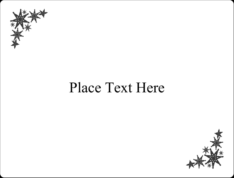 "2⅝"" x 2"" ID Label - Star Corner"