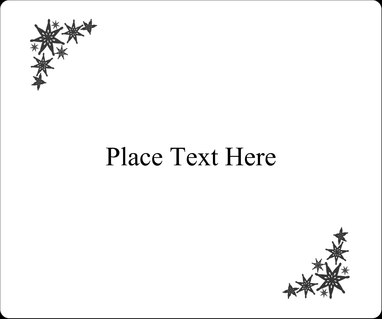 "4"" x 3⅓"" ID Label - Star Corner"