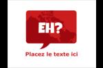 Parlez-vous canadien eh? Carte Postale - gabarit prédéfini. <br/>Utilisez notre logiciel Avery Design & Print Online pour personnaliser facilement la conception.