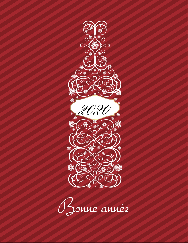 "5½"" x 4¼"" Carte Postale - Bouteille de champagne en spirale"