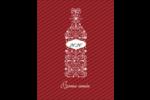 Bouteille de champagne en spirale Carte Postale - gabarit prédéfini. <br/>Utilisez notre logiciel Avery Design & Print Online pour personnaliser facilement la conception.