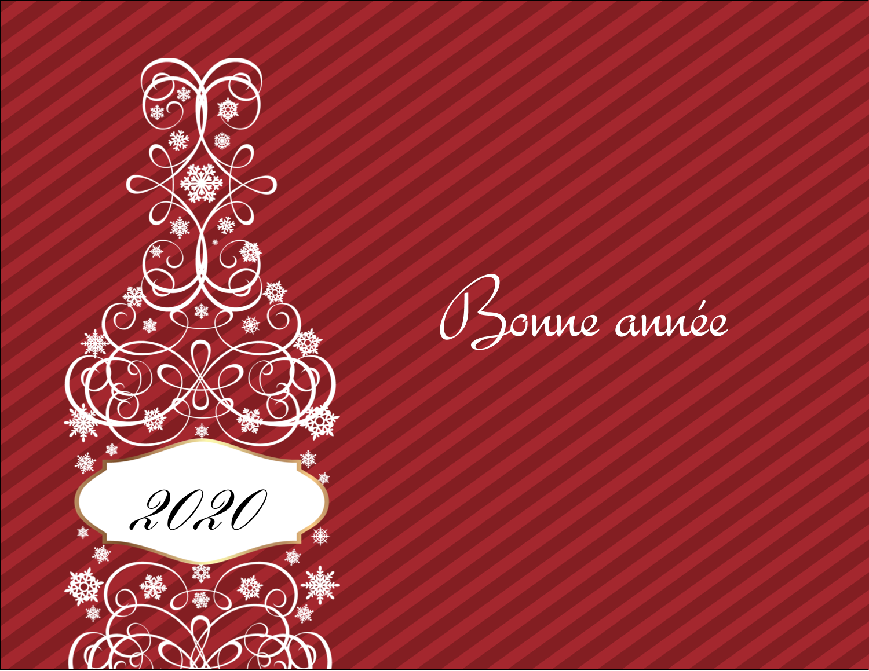 "4¼"" X 5½"" Carte Postale - Bouteille de champagne en spirale"
