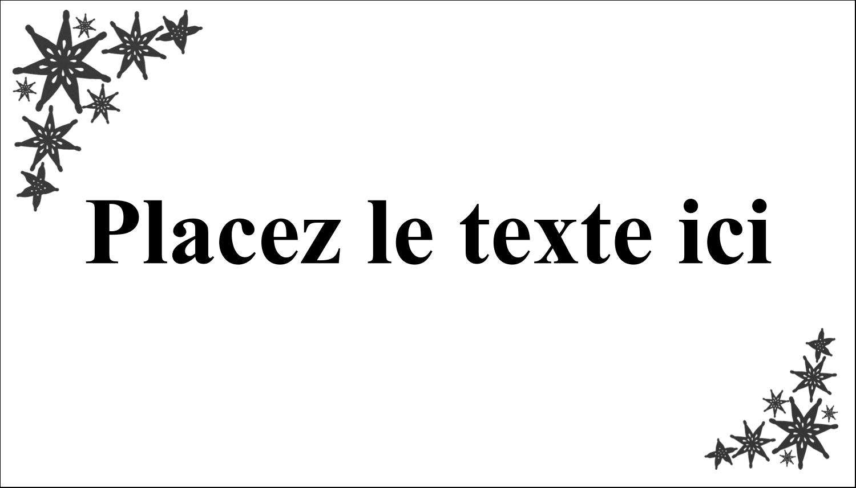 "2"" x 3½"" Carte d'affaire - Angle étoilé"
