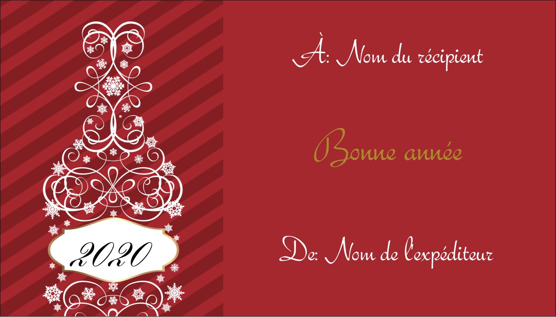 """3½"""" x 2"""" Carte d'affaire - Bouteille de champagne en spirale"""