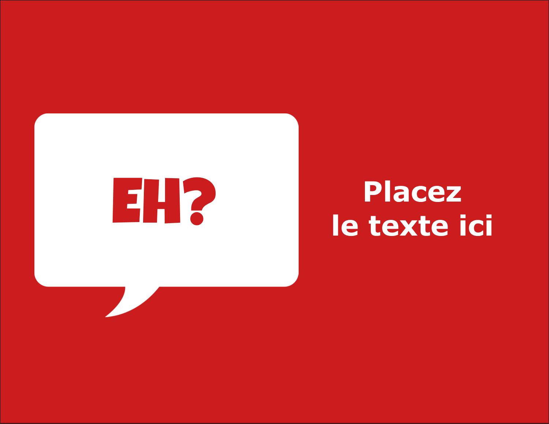 """4¼"""" X 5½"""" Carte Postale - Parlez-vous canadien eh? (Rouge)"""