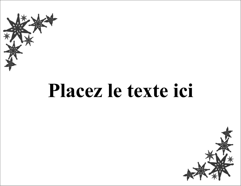 "5½"" x 4¼"" Carte Postale - Angle étoilé"