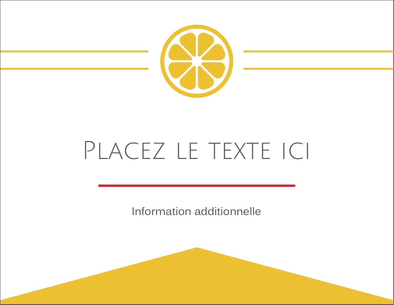 """4¼"""" X 5½"""" Carte Postale - Petite icône d'agrume"""