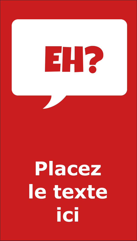 """3½"""" x 2"""" Carte d'affaire - Parlez-vous canadien eh? (Rouge)"""