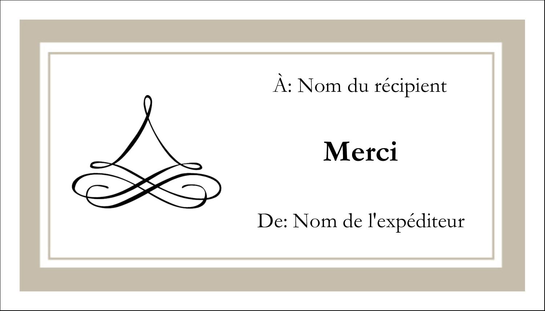 """3½"""" x 2"""" Carte d'affaire - Mariage simple"""