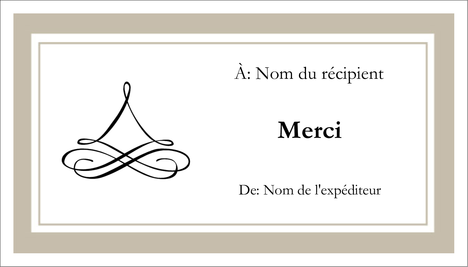 "3½"" x 2"" Carte d'affaire - Mariage simple"