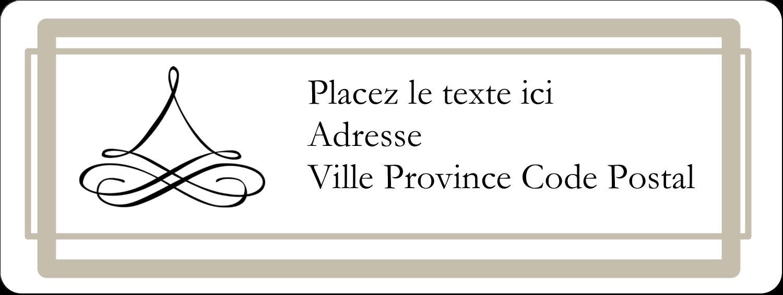 """⅔"""" x 1¾"""" Étiquettes D'Adresse - Mariage simple"""