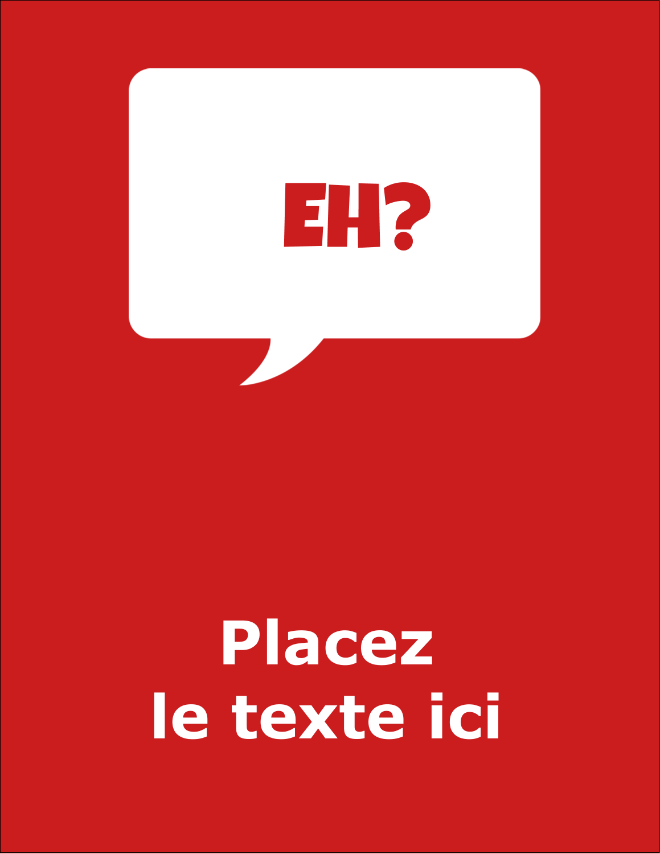 """5½"""" x 4¼"""" Carte Postale - Parlez-vous canadien eh? (Rouge)"""
