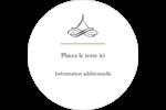 Mariage simple Étiquettes rondes - gabarit prédéfini. <br/>Utilisez notre logiciel Avery Design & Print Online pour personnaliser facilement la conception.