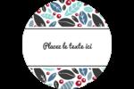Feuillu Étiquettes rondes - gabarit prédéfini. <br/>Utilisez notre logiciel Avery Design & Print Online pour personnaliser facilement la conception.