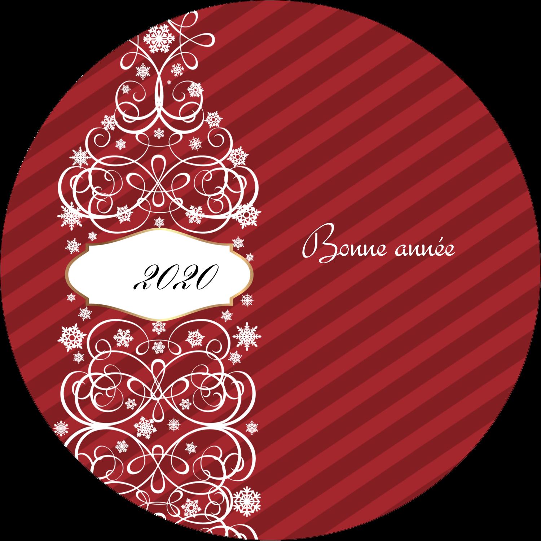 """3"""" Diameter Étiquettes rondes - Bouteille de champagne en spirale"""