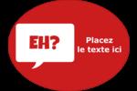 Parlez-vous canadien eh? (Rouge) Étiquettes ovales - gabarit prédéfini. <br/>Utilisez notre logiciel Avery Design & Print Online pour personnaliser facilement la conception.