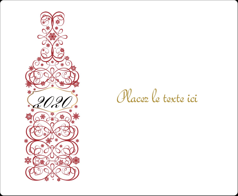 """3⅓"""" x 4"""" Étiquettes d'expédition - Bouteille de champagne en spirale"""