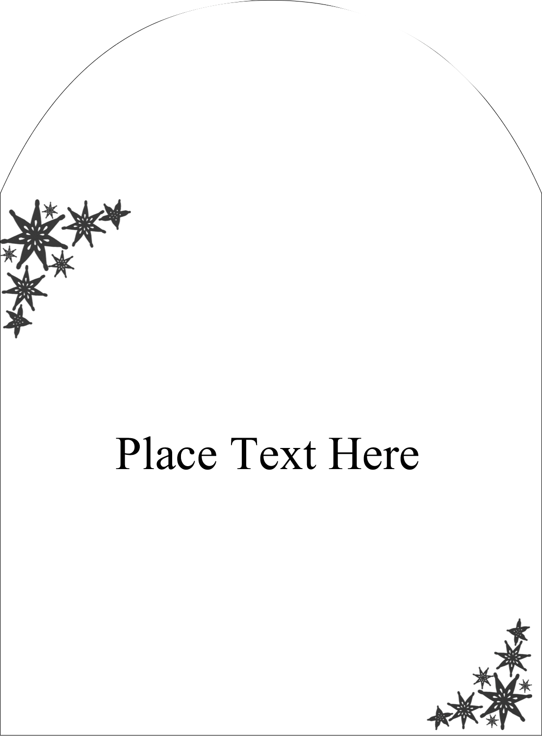 "4¾"" x 3½"" Arched Label - Star Corner"