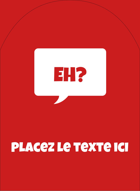 """4¾"""" x 3½"""" Étiquettes rectangulaires - Parlez-vous canadien eh? (Rouge)"""
