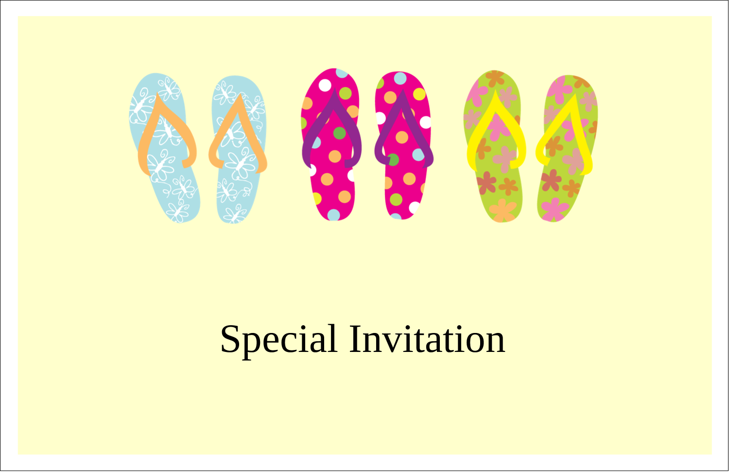 c7eeedb50 Flip Flop Fun predesigned template for your next project