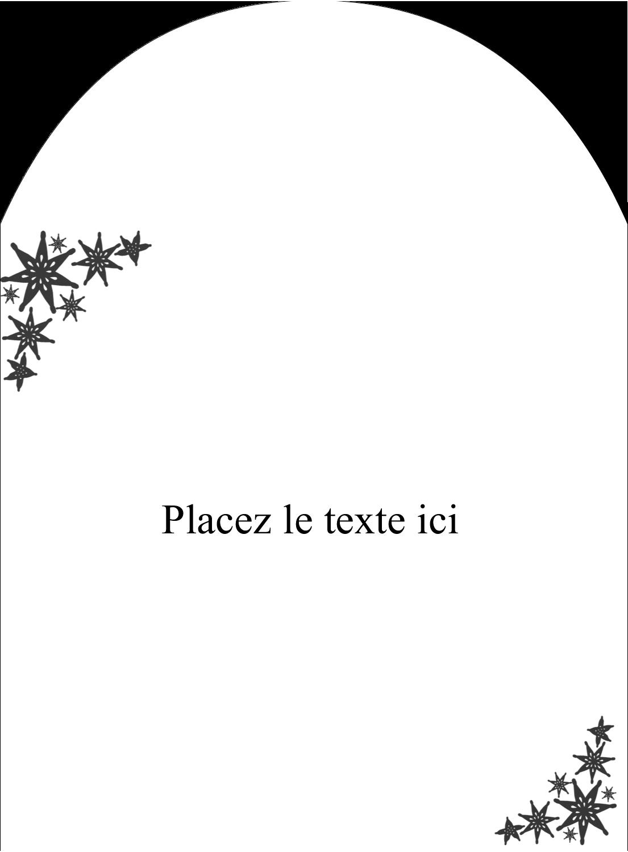 """4¾"""" x 3½"""" Étiquettes arrondies - Angle étoilé"""